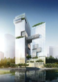 Xin Liyi Chongqing Riverfront Office Building by Woods Bagot