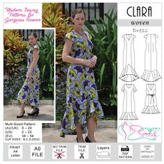 The stunning new Clara Dress PDF Sewing Pattern from Designer Stitch.