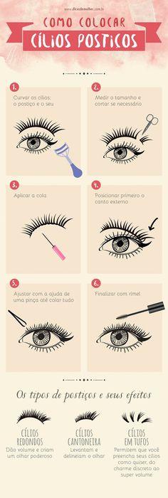 9 infográficos para você se tornar uma expert em maquiagem