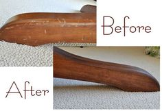 How to re-stain a wood table -- great step by step tutorial.
