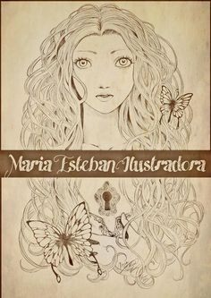 Maria Esteban work #comic #art #artistic #character #ink #design #photography #pic #draw #tattoo #drawing #illustration #decoration #manga #doll #butterfly