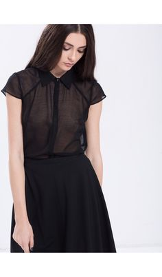 Items similar to Black Veil Shirt Sheer Office on Etsy Black Veil, Trending Outfits, Shirts, Etsy, Clothes, Vintage, Tops, Dresses, Women