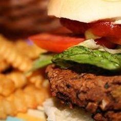 Homemade Black Bean Veggie Burgers Allrecipes.com