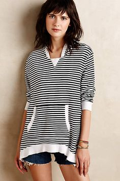 Striped Terry Pullover - anthropologie.com