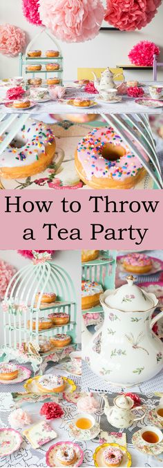 How to Throw a Tea Party! We'll cover food, decorations, tableware, music and more to make it the perfect party! Even better we'll do it on a budget!