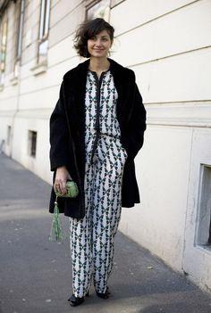 Eva Geraldine, Elle Italia in Milan | #MFW is so nearly here  :: pajama dressing ::