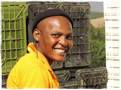 Bonani - a happy worker Seven Springs, Crates, South Africa, Vineyard, Happy, Vine Yard, Ser Feliz, Vineyard Vines, Cubbies