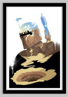 Star Wars Boba Fett Silhouette Poster