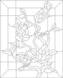 Resultado de imagen de stained glass magnolia pattern