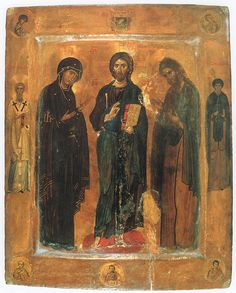 Деисус со святыми  XI в.  Deesiswith the saints. XIth century