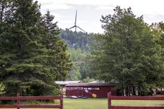 M'Chigeeng Pow Wow Grounds and Wind Turbine by Mikell Herrick