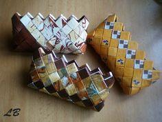 Candy bag - skládané kabelky :: Pleteme z papíru