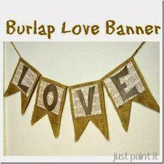 Burlap Love Banner