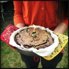 wheat, gluten & dairy free chocolate brownie cake - happy birthday charlotte!
