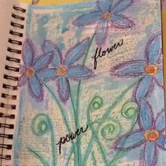 Crayon resist and watercolor mixed media in my art journal.