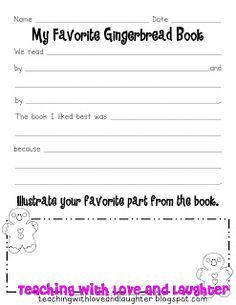 Teaching With Love and Laughter: My Favorite Gingerbread Book Freebie