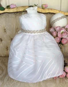 JULIETA Christening silk dress by Elena
