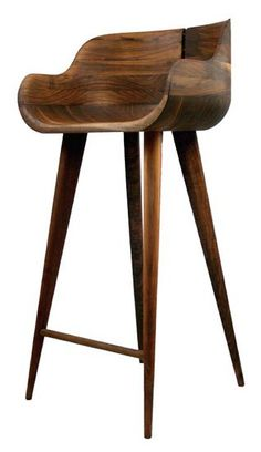 "$595 - Kara COUNTER (not Bar) Counter Stool Mid Century Danish Modern -- 17.5"" x 19.5"" x 35.5""; seat height: 25½""; seat depth: 14½""; footrest height: 10"""