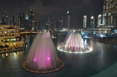 More of the Dubai water fountains