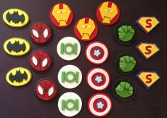 SUPERHERO  7 CHARACTERS  Inspired Fondant by CoolCupcakeToppers, $37.99
