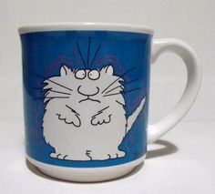 Sandra Boynton Cat Mug Hassle Me Thrive On Stress Coffee Cup Recycled Paper #RecycledPaperProducts #SandraBoynton