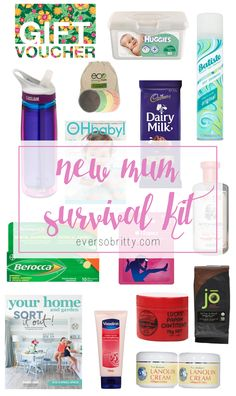 Last week my sister-in-law had her very first baby ( see her baby shower here ) which was super exciting! I decided to make up a new Mum survival kit.