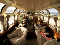 Amtrak Coast Starlight Lounge & Observation Car...nice way to travel, beautiful views...I could work from here! :)