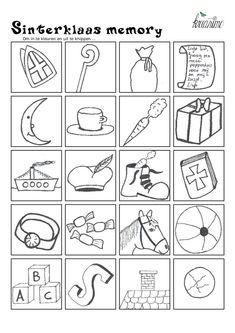 Sinterklaas Memory Om In Te Kleuren En Uit Te Knippen Bingo, Diy For Kids, Crafts For Kids, Saint Nicolas, Diy Crafts To Do, Embroidered Clothes, Too Cool For School, To Color, Pinterest Blog
