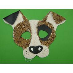 Faschingsmaske Hund | Einfache Bastelidee für Kindermasken basteln.