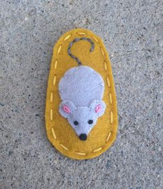 Shy Mouse Golden Yellow Wool Felt Hair Clip by sundropclips