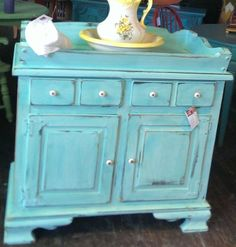Dry Sink Or Changing Table Jamaica Blue. Vintage/antique/baby/diapers/baby/wash…