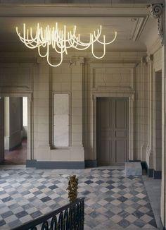 Les Cordes chandelier by Mathieu Lehanneur for Château Borély