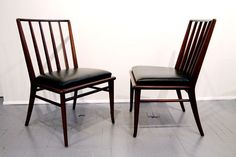 Set of Six walnut dining chairs T.H. Robsjohn-Gibbings Widdicomb 3