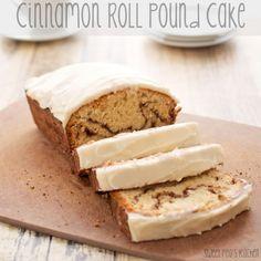 Cinnamon Roll Pound Cake {Sweet Pea's Kitchen}