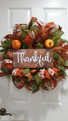 Fall Deco Mesh, Deco Mesh Wreaths, Fall Mesh Wreaths, Autumn Wreaths For Front Door, Holiday Wreaths, Door Wreaths, Wreath Fall, Holiday Crafts, Holiday Ideas