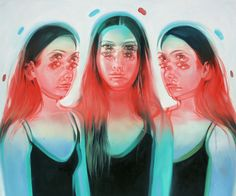New Beautifully Surreal Paintings Imagine Women in Dizzying Double Vision