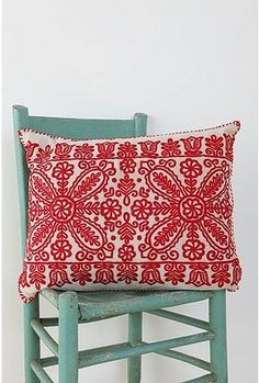 I LOVE traditional Hungarian embroidered pillows. I regret not buying one before I left Hungary. :((