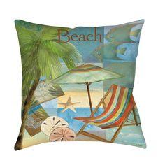 Thumbprintz Beach Memories B Throw/ Floor Pillow
