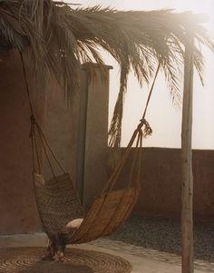 hamac et tapis en fibres naturelles, vannerie, terrasse