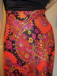 Vintage 1960's Psychedelic Paisley Flower by ElectricLadyland1, $49.99