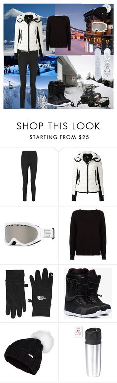 """Ski Resort"" by oksana-kolesnyk ❤ liked on Polyvore featuring Moncler, Moncler Grenoble, Roxy, River Island, The North Face, Burton, Sweaty Betty, OXO and Winky Lux"