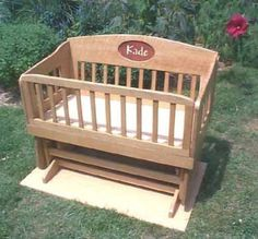 Woodworking plans - Glider Cradle that becomes a toddler bench