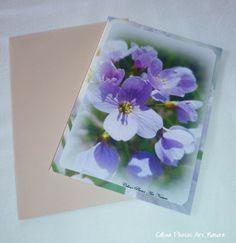 """Carte double 10,5x15cm réalisée à partir d'une photo de fleurs de Cardamine des prés """" Romantique Cardamine des prés"""" : Cartes par celinephotosartnature"""
