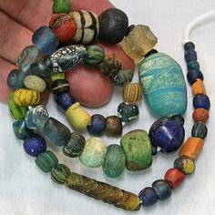 SKJ ancient bead art Western - Central Asia. Age:Est 800 - 2000 Years