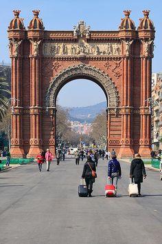 Arco de Triunfo, El Fort Pius, Barcelona, Catalunha, Espanha.