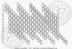 9 sor 20 mm-s Beading Tutorials, Beading Patterns, Crochet Patterns, Beading Ideas, Peyote Stitch, Bead Crochet, Bead Weaving, Free Pattern, Beaded Bracelets