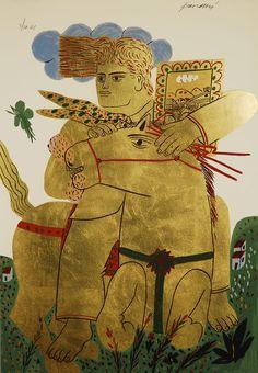 Alecos Fassianos Modern Art, Contemporary Art, Greece Painting, Greek Art, Horse Art, Artist Painting, Figurative Art, Book Art, Fine Art