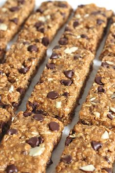 5-Ingredient (no-bake) Granola Bars - can be made with peanut butter or almond butter. Yum!