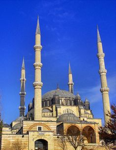 Selimiye Mosque  is an Ottoman imperial mosque, which is located in the city of Edirne, Turkey. The mosque was commissioned by Sultan Selim II, and was built by architect Mimar Sinan between 1569 and 1575.[2] It was considered by Sinan to be his masterpiece and is one of the highest achievements of Islamic architecture.