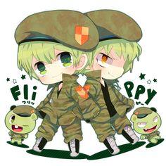 Happy Tree Friends - Chibi Flippy And Fliqpy on We Heart It Happy 3 Friends, Happy Tree Friends Flippy, Free Friends, Htf Anime, Yuka, Future Boy, Friend Anime, Familia Anime, Anime Version